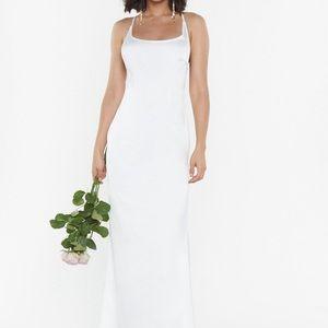 NWT NastyGal Satin Strappy Dress